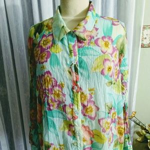 Milano size XL variegated  3/4 sleeve  blouse